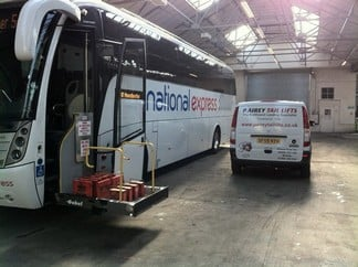 National Express Coach Tail lift